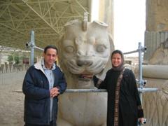 Amin & Becky, Persepolis lion ruins