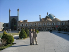 Standing in front of Imam Mosque, Isfahan