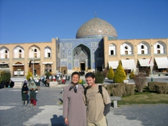 Striking a pose in front of Sheikh Loftollah Mosque, Imam Square, Isfahan