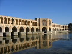 Si-o-se Pol Bridge (Bridge of 33 arches) was built in 1602 to span the Zayandeh River; Isfahan