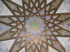 Ornate dome work at the beautiful Shazdeh Garden; Mahan