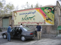 Billboard propaganda is everywhere in Iran