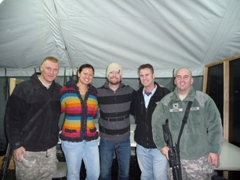 American Idol winner David Cook does a meet & greet after putting on a USO show for the troops