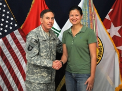 GEN Petraeus and Becky; Camp Victory