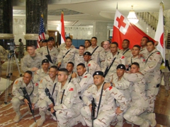 Group photo of the Tongan soldiers who guarded Al Faw Palace