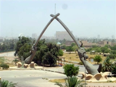 Another view of the Hands of Victory triumphal arch; Baghdad
