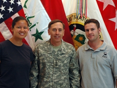Getting to meet our Commanding General, GEN Petraeus