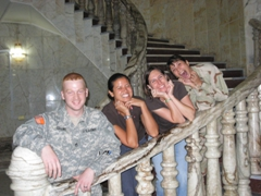 Eric, Becky, Kelly & Melissa striking a pose; Al Faw Palace