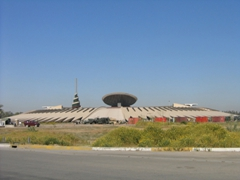 Another view of the Monument of the Unknown Soldier (the white, green, red and black cone represents the Minaret of Samarra and was designed from the ziggurats of ancient Mesopotamia)