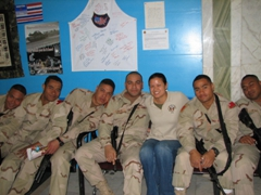 The Tongan marines & Becky; Al Faw Palace