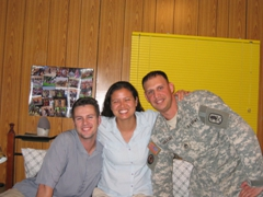 Robby, Becky & Jeremy (our friend from Bad Kreuznach, Germany) have a reunion in Baghdad