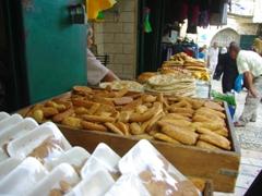 A bread seller in Jerusalem