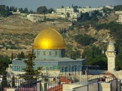 One of the most iconic images in the world, the Dome of the Rock; Jerusalem