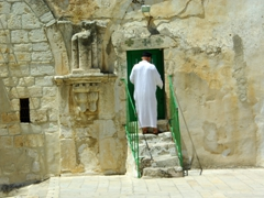 The Ethiopian Monastery resides on the northwest corner of the Holy Sepulchre Complex, where today, a handful of Ethiopian monks reside; Jerusalem