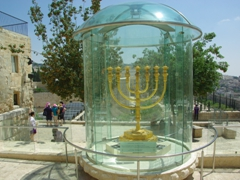 The Golden Menorah, reconstructed for the first time since the destruction of the second temple; Jerusalem