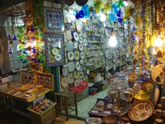 There are lots of souvenir shops such as this one in Old Jerusalem, where shopping opportunities abound