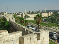 The Ramparts Walk (16 NIS) is definitely worthwhile as it offers amazing views of Old Jerusalem. We entered just before closing time (5 PM) and were able to spend as much time as we liked up on the city walls