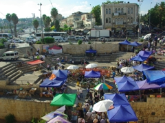 Open air market at Damascus Gate; Jerusalem