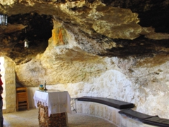 Cave church at the Shepherds' Fields; Beit Sahour near Bethlehem