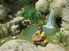There are lots of private pools that one can dip in to cool down at the Ein Gedi Nature Reserve