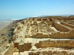 The storerooms complex of Masada Fortress, a series of 29 rooms built by Herod to contain food, liquids and weapons
