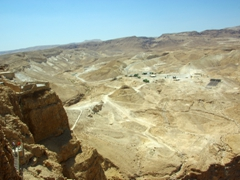Looking out from the observation point at the Northern Palace; Masada