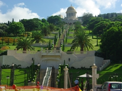 The quintessential image of Haifa, dominated by the picturesque Baha'I Gardens
