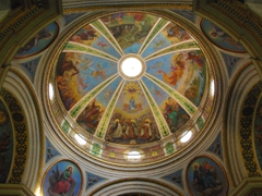 "The Stella Maris (""sea star"" in Latin) dome. This impressive Carmelite church and monastery are open to modestly dressed visitors daily"
