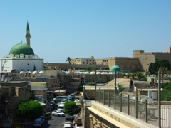 Akko is a UNESCO world heritage stone walled fortress town, and an easy day trip from Haifa