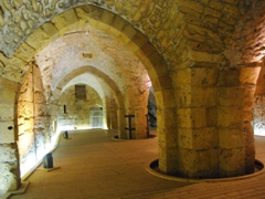 The dungeon area of the Knight's Halls; Akko