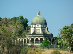 "A view of the Church of the Beatitudes which commemorates the Sermon on the Mount (""Judge not lest Ye be Judged""); Tabgha"