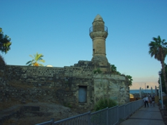 The 1880 Jama al-Bahr Mosque, which used to have a Sea of Galilee entrance for visitors arriving by boat; Tiberias