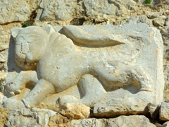 The lion in this relief adorned the southwestern entrance of the tower protecting Nimrod Fortress, and served as a royal symbol of Mamluk Sultan Baybars