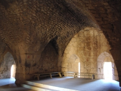 Interior of the southwestern tower of Nimrod Castle