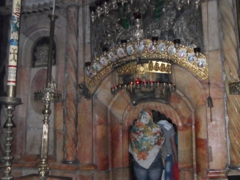 Pilgrims flock to see the Church of the Holy Sepulcher, where Jesus was crucified, buried and resurrected; Jerusalem