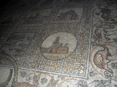 Beautifully preserved mosaic floors can be seen inside one of Christendom's most holy sights, the Church of the Holy Sepulcher