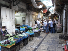 One of the many covered souqs of the Muslim Quarter; Jerusalem