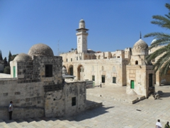 Only Muslims can enter the Temple Mount area via the nearby souqs; Jerusalem
