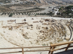 A newly discovered amphitheater that seats 450 attendees; Herodion