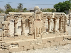 Ruins of Hisham's Palace, located in Wadi Nueima about 2 KM north of Jericho