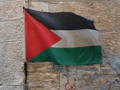 Palestinian flag; Bethlehem