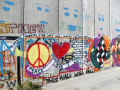 Graffiti artwork on the Israel/Palestine Security Wall; West Bank