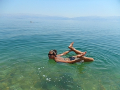 Bow pose; Dead Sea