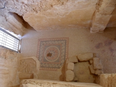 One of the many rooms of the Western Palace, built during Herod's reign; Masada