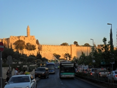 Sunset on the Jaffa Gate Rampart Walls; Jerusalem