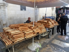 Sesame bread rolls for sale; Jerusalem