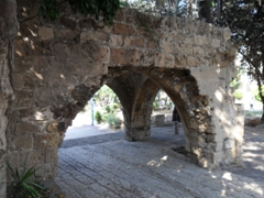 Remains of an archway in Old Jaffa
