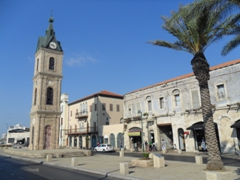The clock tower in Old Jaffa is one of a hundred clock towers erected throughout the Ottoman Empire in 1900, commemorating the 25 years of rule by the Sultanate of Abdul Hamid II