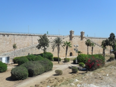 Watch towers of the Land Wall Promenade, where in 1799, Napoleon Bonaparte experienced a thwarted effort to capture Akko