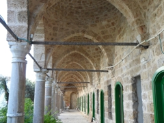 Vaulted colonnade of Al-Jazzar Mosque; Akko